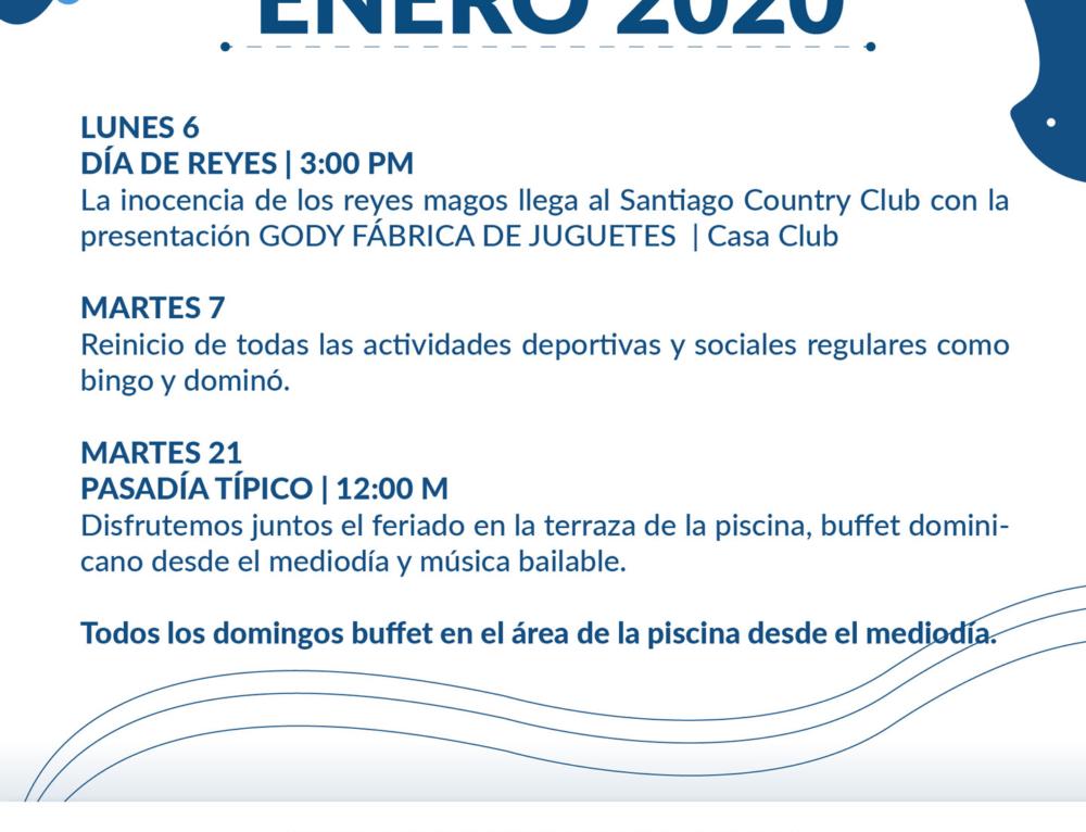 Programa de Actividades Enero 2020