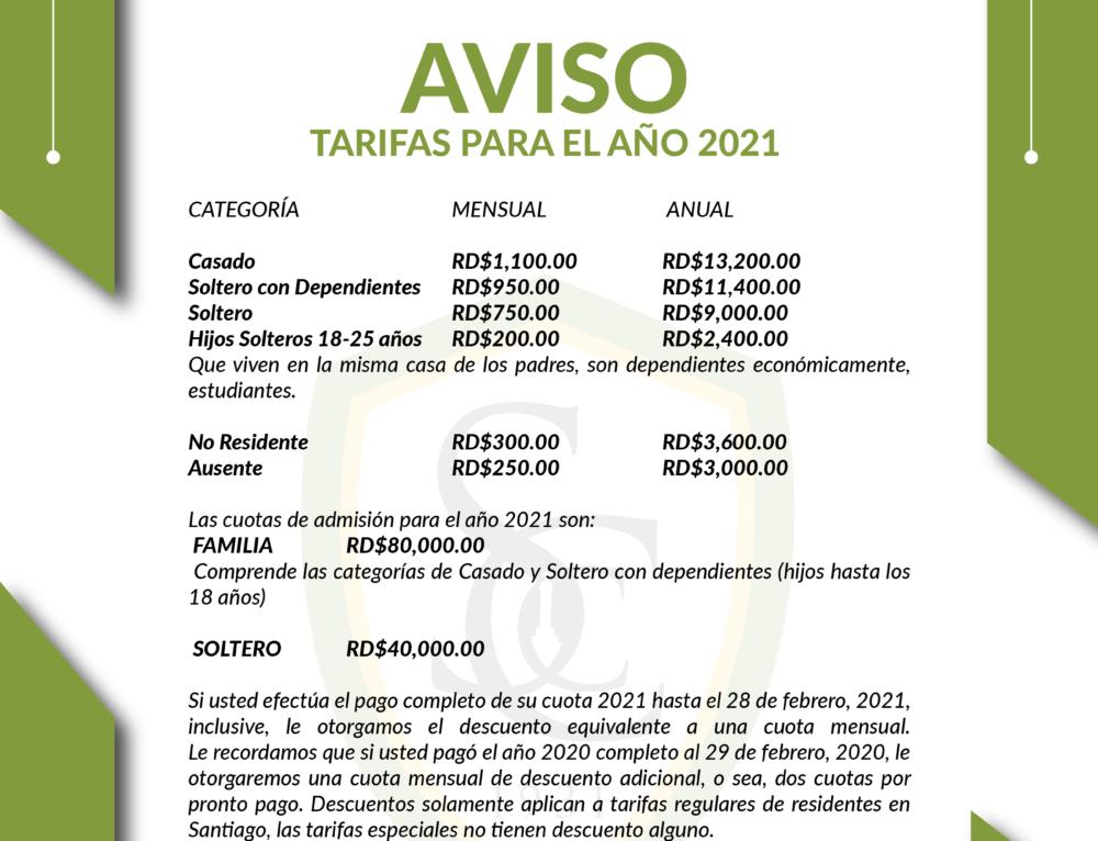 Circular de Tarifa 2021